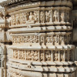 Hinduism ranakpur temple fragment — Stock Photo