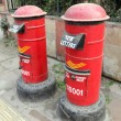 Stock Photo: Red letter boxes in india