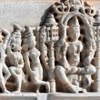 Hinduism ranakpur temple fragment — Stockfoto