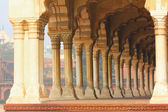 Columns in palace - agra fort — Stock Photo
