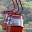 Red funicular cabin - Stock Photo