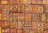 India fabric background patchwork — Stock Photo