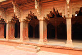 Columns in red Fort of Agra — Stock Photo