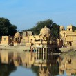 Stock Photo: Palace on lake in Jaisalmer India