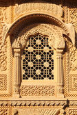 Window of beautiful ornamental building in india — Stock Photo