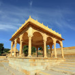 Old jain cenotaph in jaisalmer india — Stock Photo
