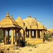 Stockfoto: Cenotaphs in BadBagh - Jaisalmer India