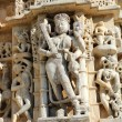 Stockfoto: Sculpture on hinduism ranakpur temple in india