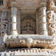 Hinduism ranakpur temple fragment — Stockfoto #23488251