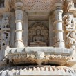 Stock Photo: Hinduism ranakpur temple fragment