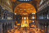 Hagia sofia museum interior in istanbul — Stock Photo