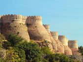 Wall of kumbhalgarh fort — Stock Photo