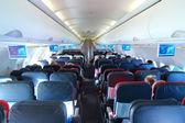 Vliegtuig interieur — Stockfoto