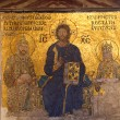 Mosaic in Hagia Sofia - Istanbul Turkey - Stock Photo