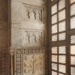 Interior of taj mahal mausoleum in India - Stock Photo