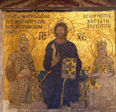 Mosaic in Hagia Sofia - Istanbul Turkey — Stock Photo