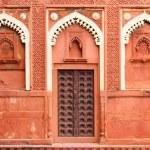 Building fragment with door in India — Stock Photo #23875017