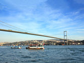 Bridge over the Bosphorus Strait in Istanbul — Stock Photo