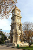 Tower with clock in dolmabahce palace - istanbul — Stock Photo