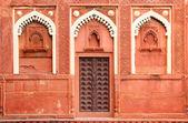 Building fragment with door in India — Stock Photo