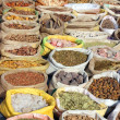 Bags with spices on indian market - Foto Stock
