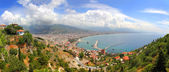 Panorama of Alanya Turkey from fortress — Stock Photo