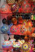土耳其传统多彩多姿的灯具 — 图库照片