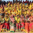 Large group of Indian girls in colorful ethnic attire — Photo