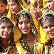 Group of Indian girls in colorful ethnic attire — Stock Photo #27782127