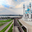 Panorama with kul sharif mosque in kazan kremlin — Stock Photo #30970345