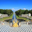 Stock Photo: Famous petergof fountains in St. Petersburg Russia