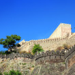 Walls of kumbhalgarh fort in india — Stock Photo