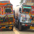 Ornate trucks in india — Stock Photo