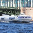 Meteor - hydrofoil boat in St. Petersburg — Stock Photo