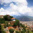 View on Alanya city from top of mountain — Stock Photo