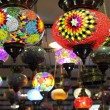 Turkish traditional multicolored lamps — Stock Photo