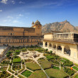 Garden in amber fort - Jaipur — Stock Photo