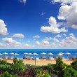 Tropical beach and Red Sea — Foto Stock