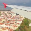 Landing in Istanbul airport - view from plane — Stock Video #36979883