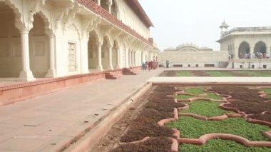 исторические здания в форт агры - индия — Стоковое видео