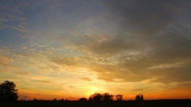 Timelapse с красивый закат — Стоковое видео