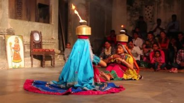 Dances of India - view in Udaipur Rajasthan — Vídeo de Stock