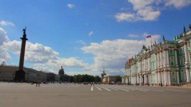 Petersburg'daki hermitage ve palace meydanı — Stok video