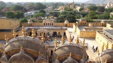 View on Jaipur from Hawa Mahal palace - India — Stock Video