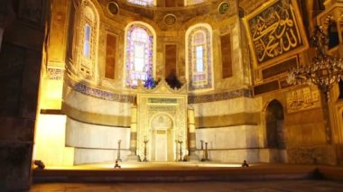 Hagia sofia museum interior in Istanbul turkey — Stock Video