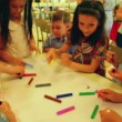 Stock Video: Children paint markers