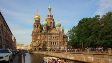 Savior on Blood - Christ the Savior Cathedral in St. Petersburg — Stock Video