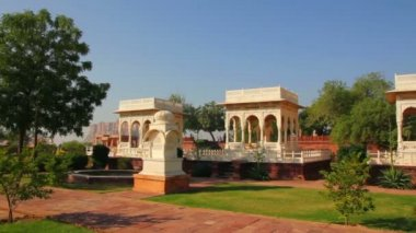 Jaswant Thada mausoleum in Jodhpur India — Stock Video