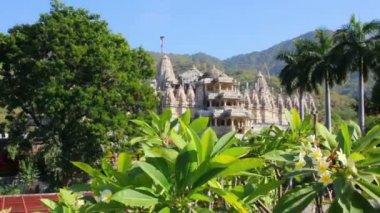 Hinduism temple ranakpur in rajasthan india — Stock Video