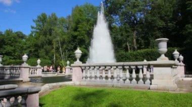 Eva fountain in petergof park St. Petersburg Russia — Stock Video